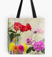 Symphony Of Rainbow Flowers Tote Bag