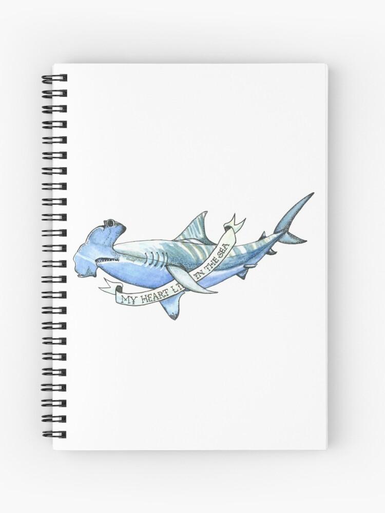 Hammerhead Shark Tattoo Spiral Notebook