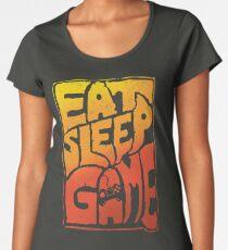 Eat sleep game tshirt with a cool graphic approach - fun video gamer gift idea Women's Premium T-Shirt