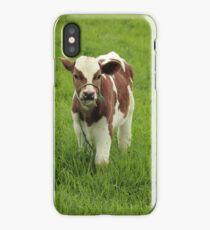 Calf in a Pasture iPhone Case/Skin