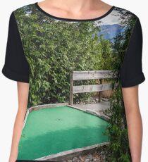 Mini Golf Green Chiffon Top