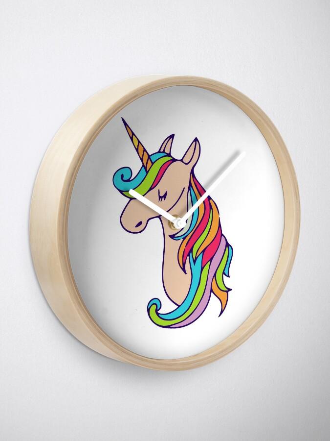 Vista alternativa de Reloj unicornio colorido