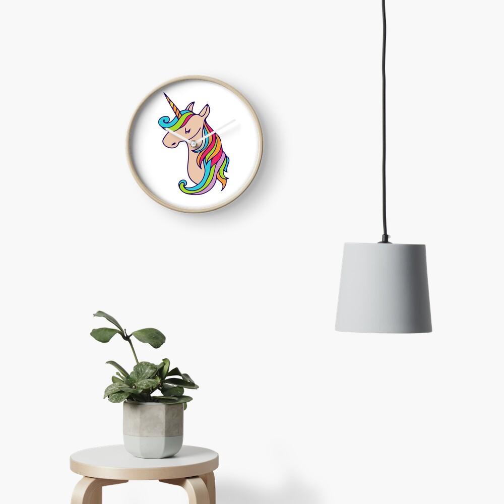unicornio colorido Reloj