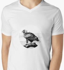 Wedge-tailed Eagle in Pen and Ink V-Neck T-Shirt