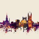 Bath England Skyline Cityscape by Michael Tompsett
