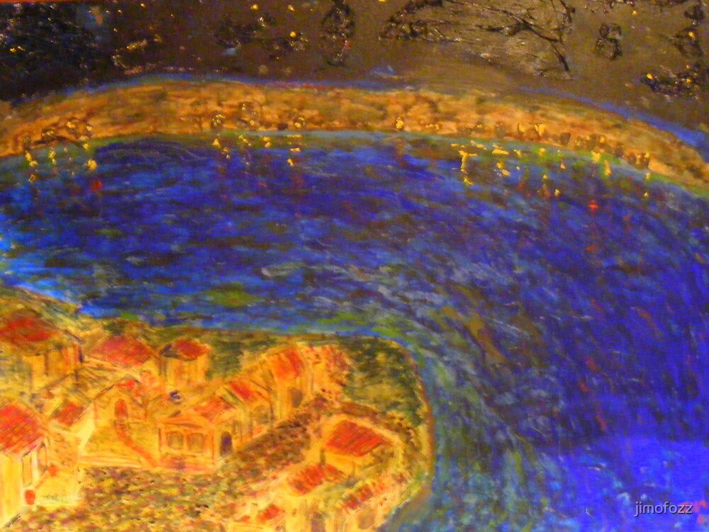 starry night over deep water by jimofozz