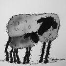 Inky Sheep 6 by TraceyMackieArt