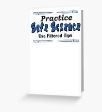 Practice Safe Science! Greeting Card