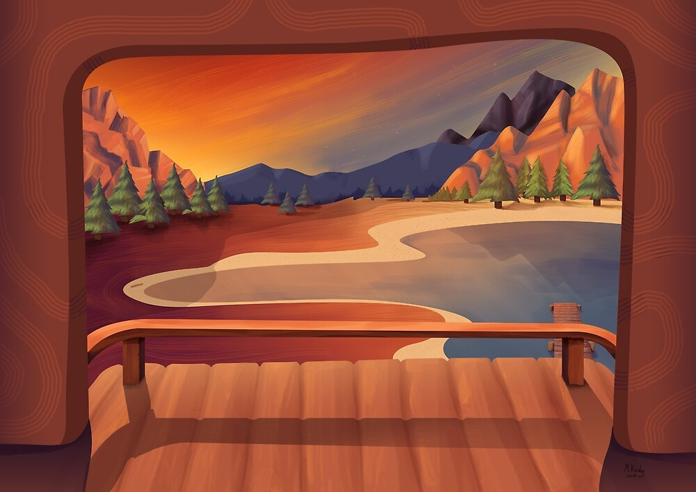 Lake Deck Illustration by Mike Healy