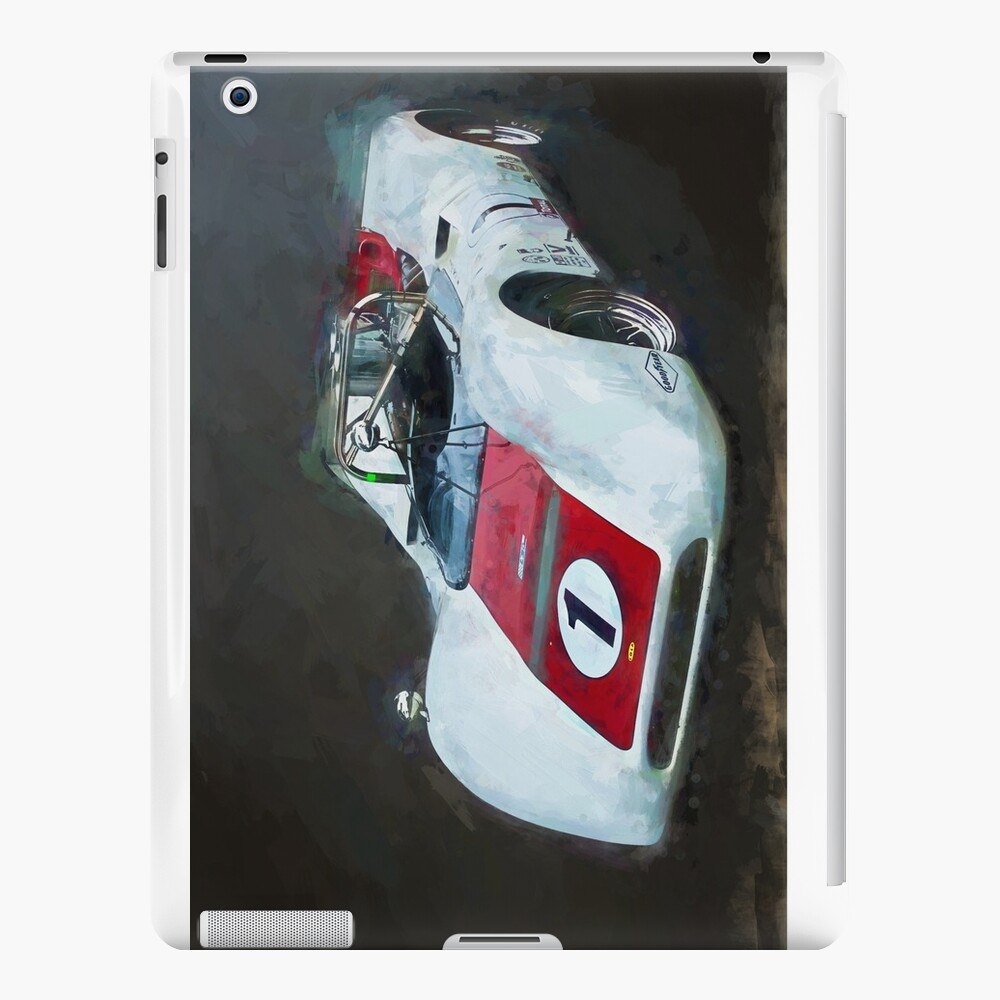 White Can-Am Lola T160 iPad Cases & Skins
