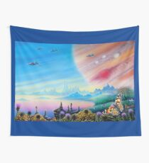 Farmer in the Sky Wall Tapestry