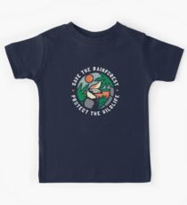 Save the Rainforest Protect the Wildlife Kids Tee