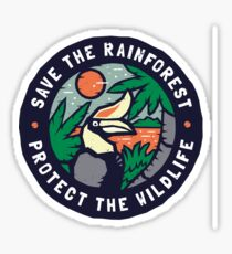 Save the Rainforest Protect the Wildlife Sticker
