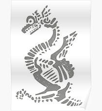 Dragon hieroglyph Poster