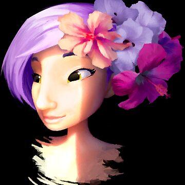 Girl pink hair by goblinight