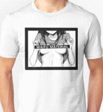 Waifu Material Shirt Waifu Shirt Anime Hentai Unisex T-Shirt