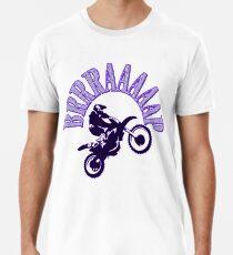 Brrraaaaap Blue Checkered Flag Moto Language Men's Premium T-Shirt