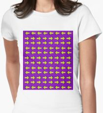 Moving illusion, Op art, optical art, visual art, optical illusions, abstract, Hip, modish, astonishing, amazing, surprising, wonderful, remarkable, extraordinary Women's Fitted T-Shirt