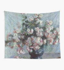 """Claude Monet """"Chrysanthemums"""", 1882 Wall Tapestry"""