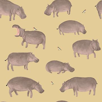Hippo Pattern  by SophieCorrigan
