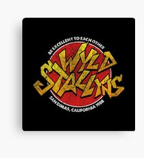 Bill & Ted - Wild Stallyns Band Patch Canvas Print