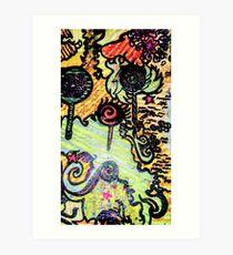 flying through candyland Art Print