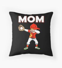 Dabbing Baseball Mom Baseball Softball Family Team Home Run Diamond Field Sport Game Coach Floor Pillow