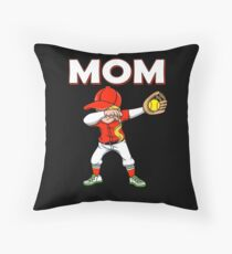 Dabbing Softball Mom Baseball Softball Family Team Home Run Diamond Field Sport Game Coach Floor Pillow