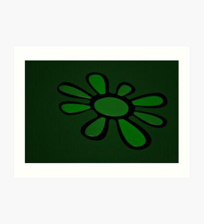 Art Green Flower Art Print