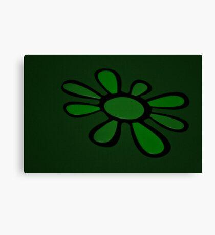 Art Green Flower Canvas Print