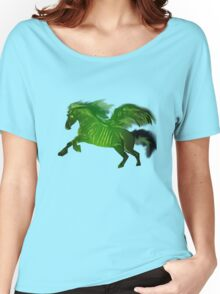Green wing horse Women's Relaxed Fit T-Shirt