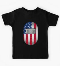 American Welder USA Flag Hood Kids Tee