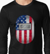 American Welder USA Flag Hood Long Sleeve T-Shirt