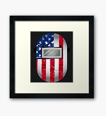 American Welder USA Flag Hood Framed Print