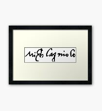 Signature of Michelangelo Framed Print