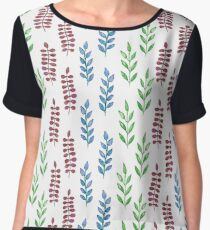 Colorful watercolor leaves  Chiffon Top