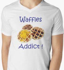 waffles addict Design BY WearYourPassion  Men's V-Neck T-Shirt