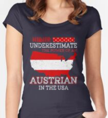 Austrian In USA T-Shirt Women's Fitted Scoop T-Shirt