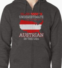 Austrian In USA T-Shirt Zipped Hoodie