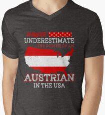 Austrian In USA T-Shirt Men's V-Neck T-Shirt