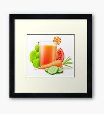 Vegetables juice Framed Print