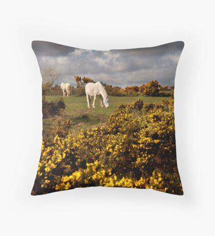 Springtime on Bodmin Moor Throw Pillow