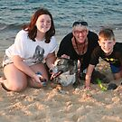 16. Maddy, Linda & Lachlan with their Bitza rescue dog by Cathie Brooker