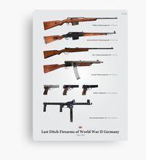 Last Ditch Firearms of World War II Germany Canvas Print