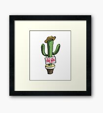 Cactus fun theme Framed Print