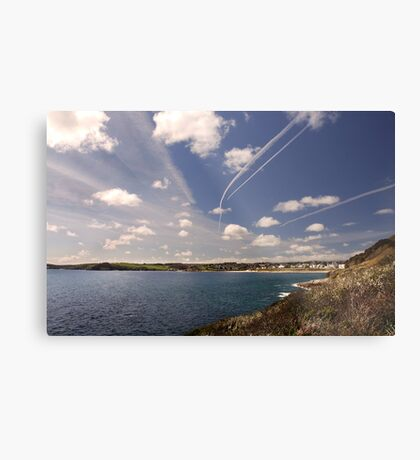Flight paths across Falmouth, Cornwall Metal Print
