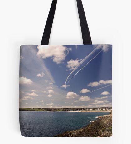 Flight paths across Falmouth, Cornwall Tote Bag