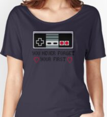 Never Forget Your First Nintendo Women's Relaxed Fit T-Shirt