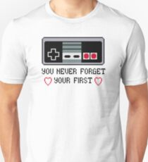 Never Forget Your First Nintendo T-Shirt