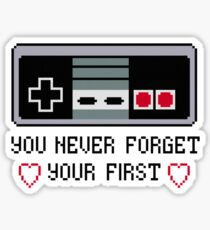 Never Forget Your First Nintendo Sticker